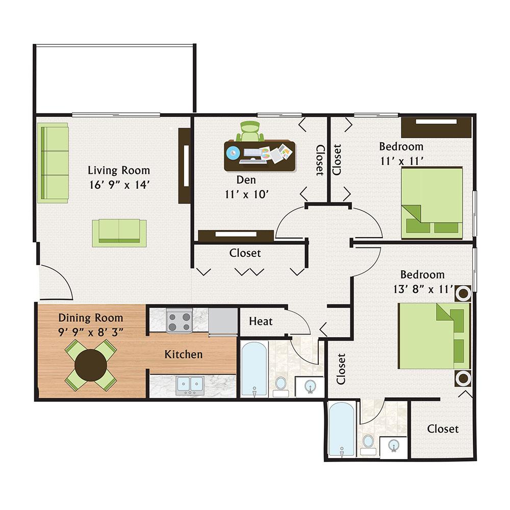 The Treehouse Of Schaumburg Luxury Apartment